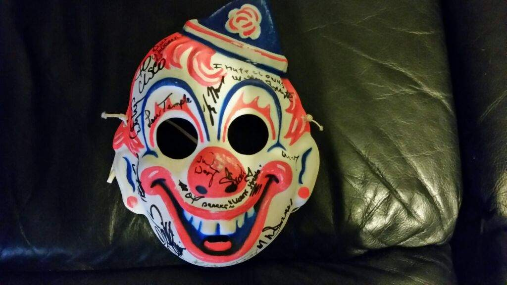 Rob Zombie Halloween Clown Mask.Little Mike Clown Mask From The Collection Horror Amino