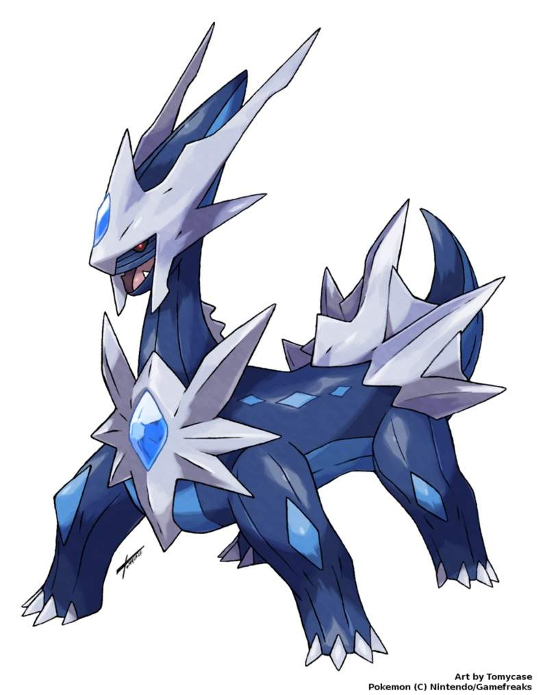 Dialga And Palkia Fusion Pokemon Mega Ev...