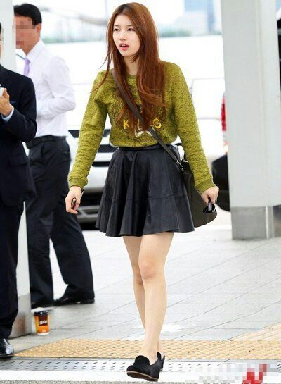 bae suzy airport fashion kpop amino