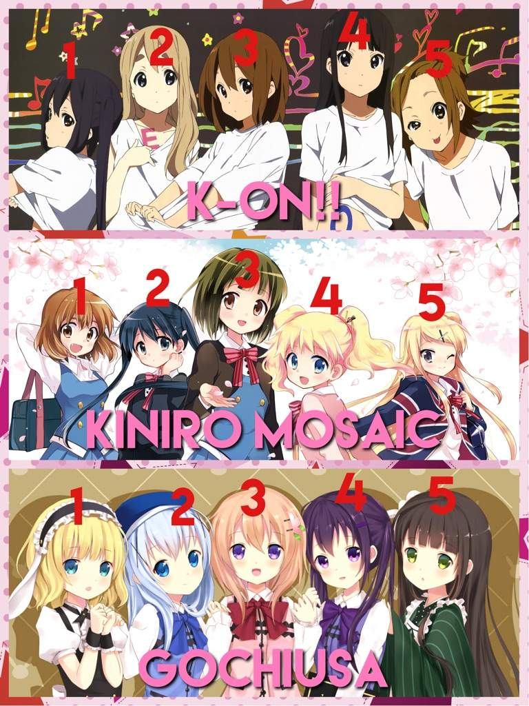 The Only Exception In This List Is Yuru Yuri Which Has Four Main Girls Odd Maybe They Just Forgot To Create A Fifth
