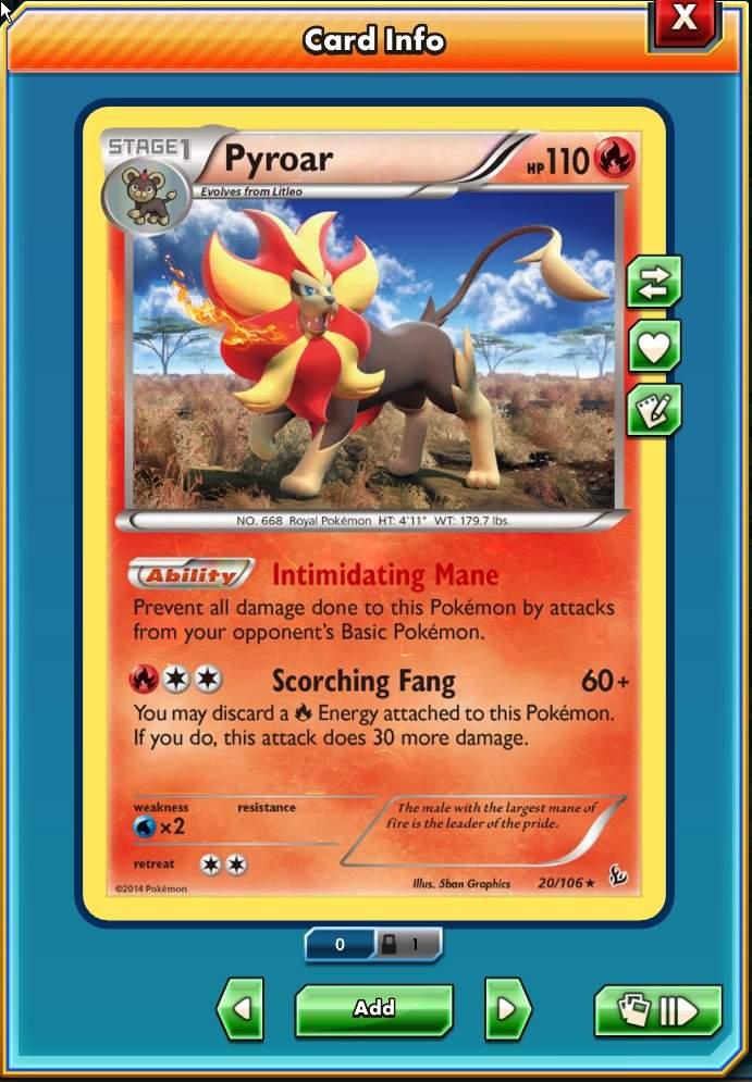 Pyroar intimidating mane attraction
