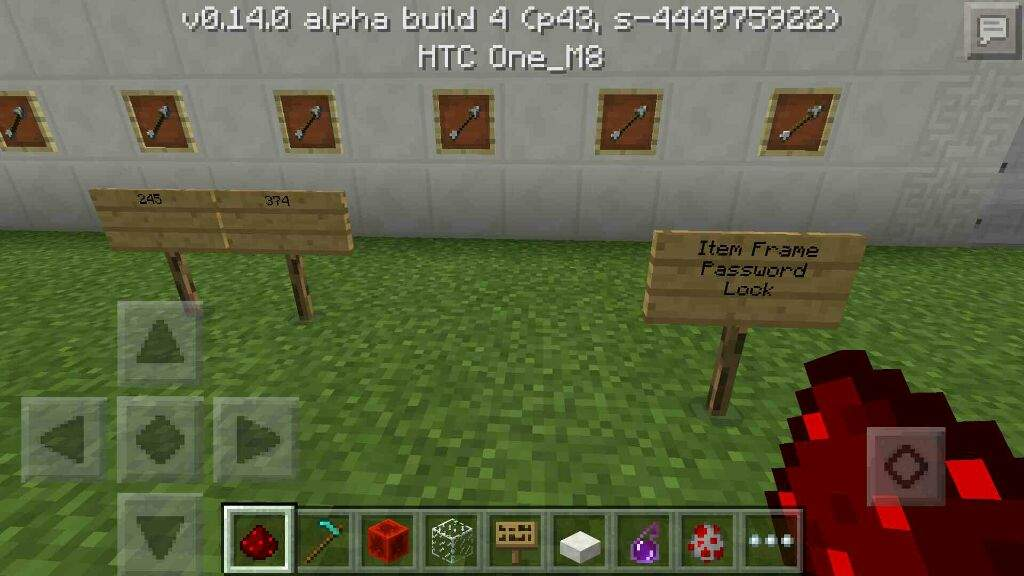 0.14.0 Redstone:Item Frame Passcode Lock | Minecraft Amino