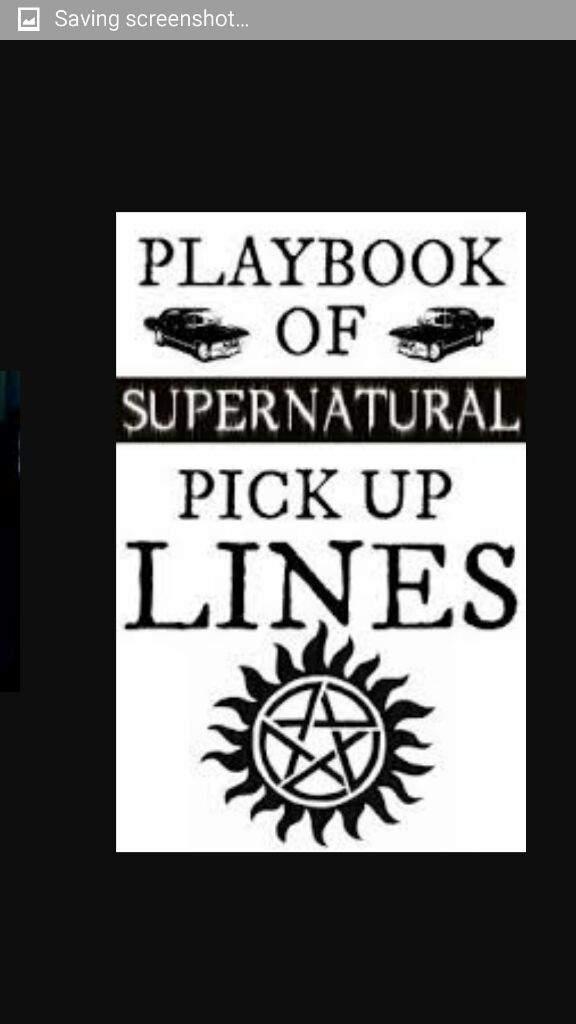 supernatural pick up lines