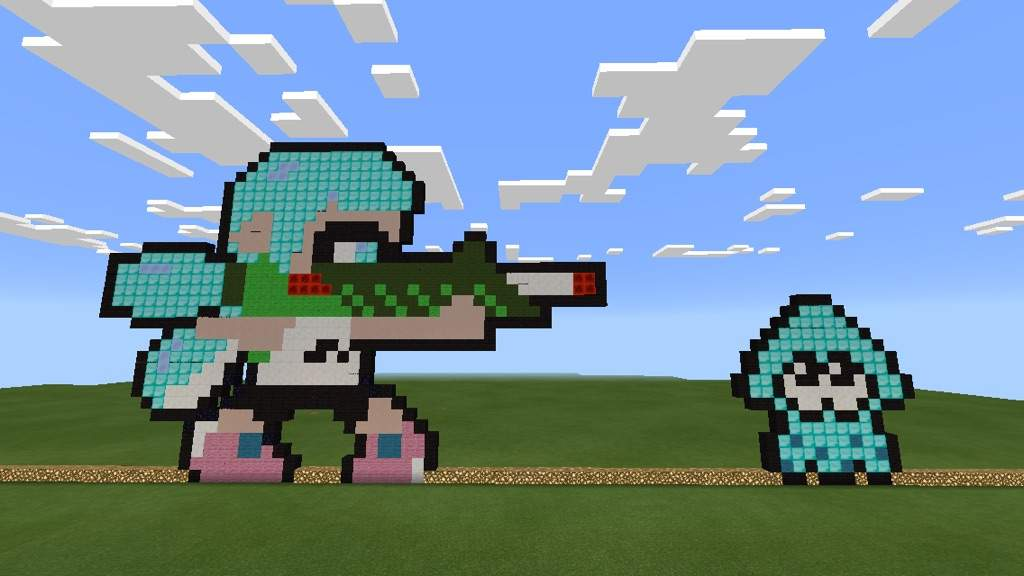 Pixel Art Update Splatoon Edition Minecraft Amino