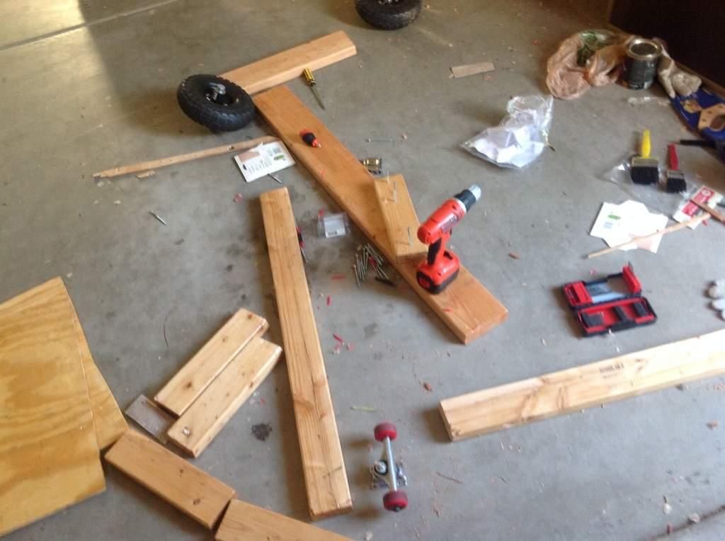 Wood Go Kart Build Part 3 | Garage Amino