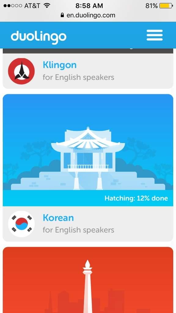 Learn korean duolingo english