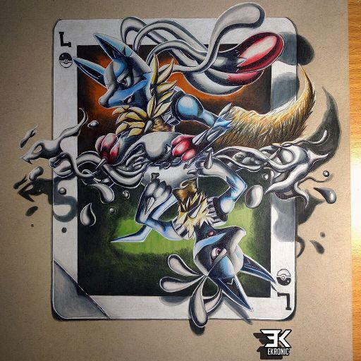 Mega Manectric & Manectric - Card