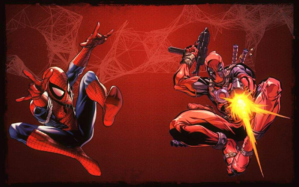 SpiderMan And Deadpool Wallpaper