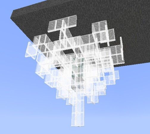 Crystal chandelier tutorial minecraft amino feel free to try new layering combinations and material to make your own unique crystal chandelier or if your not feeling creative you can use these aloadofball Image collections