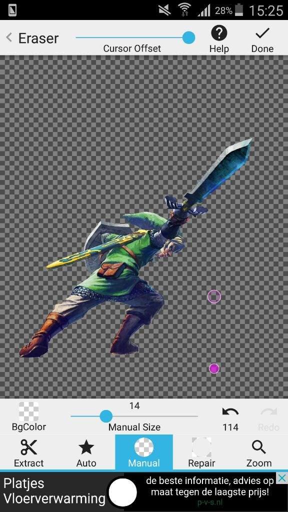 Nieuw Edit Tutorial   How do I edit   PicsArt and Eraser   Zelda Amino QD-88