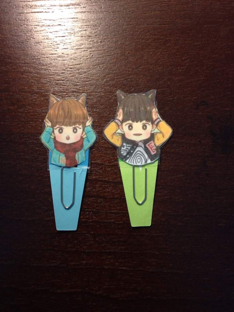 I Made These Little Bookmarks With An Exo Fan Art Found On Pinterest Might Post A Tutorial For Soon But Theyre Really Easy To Make And Im