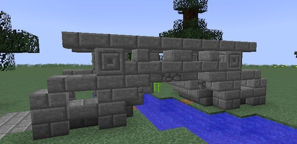 medium sized stone bridge - Minecraft Japanese Bridge