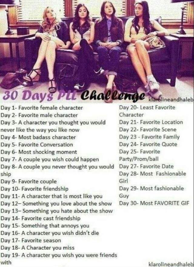 Pretty Little Liars 30 Day Challenge