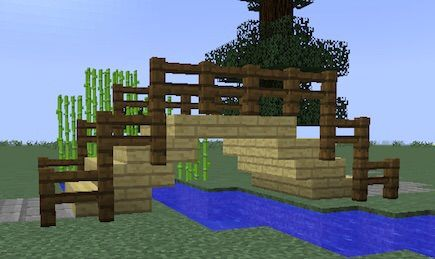small wooden bridge - Minecraft Japanese Tree
