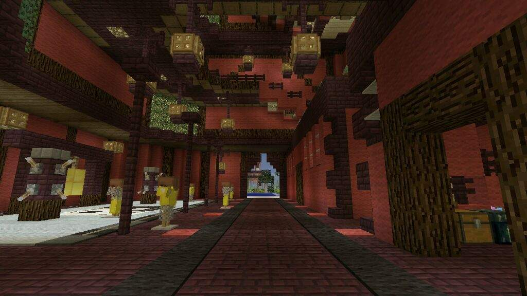 the inside of the main pogada also small training station area - Minecraft Japanese Village