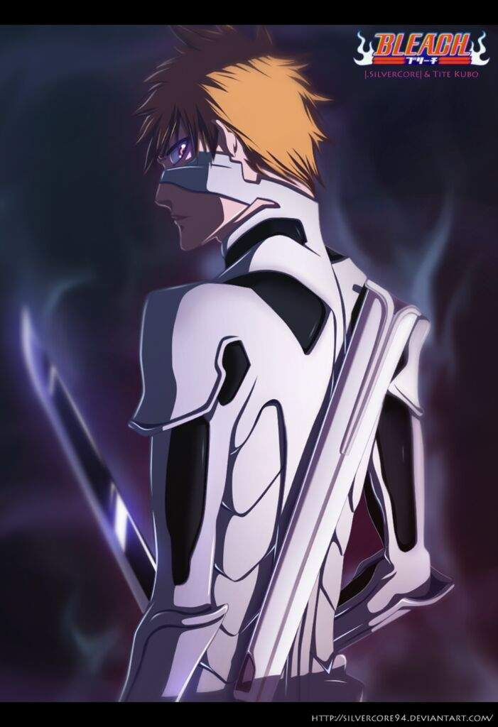 Final Fullbring Ichigo Is Also Really Strong He Has The Enhanced Energynew Swordand White Armor Suit Recently Lost His Powers And Had Gone Through