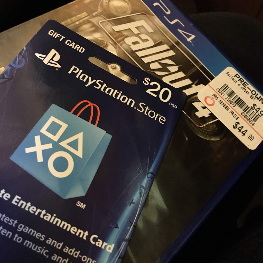 He Got A Fallout 4 And 20 Psn Gift Card I Too From Our Stepdad Blush Happy Early Birthday To My Little Brother