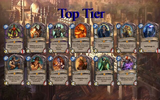 best legendaries to craft legendary tier list crafting guide hearthstone amino 3441