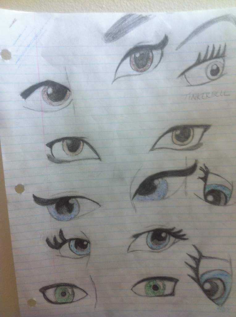 I Really Likes Drawing Eyes For Cartoon Anime And Video Games It Show Emotions Personality To A Character So Decided Draw Disney