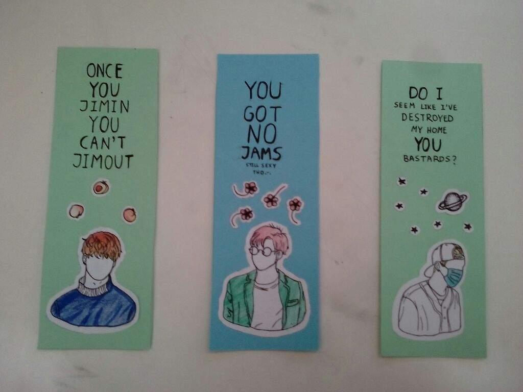 ✂ diy: aesthetic bts bookmarks ✂ | k-pop amino