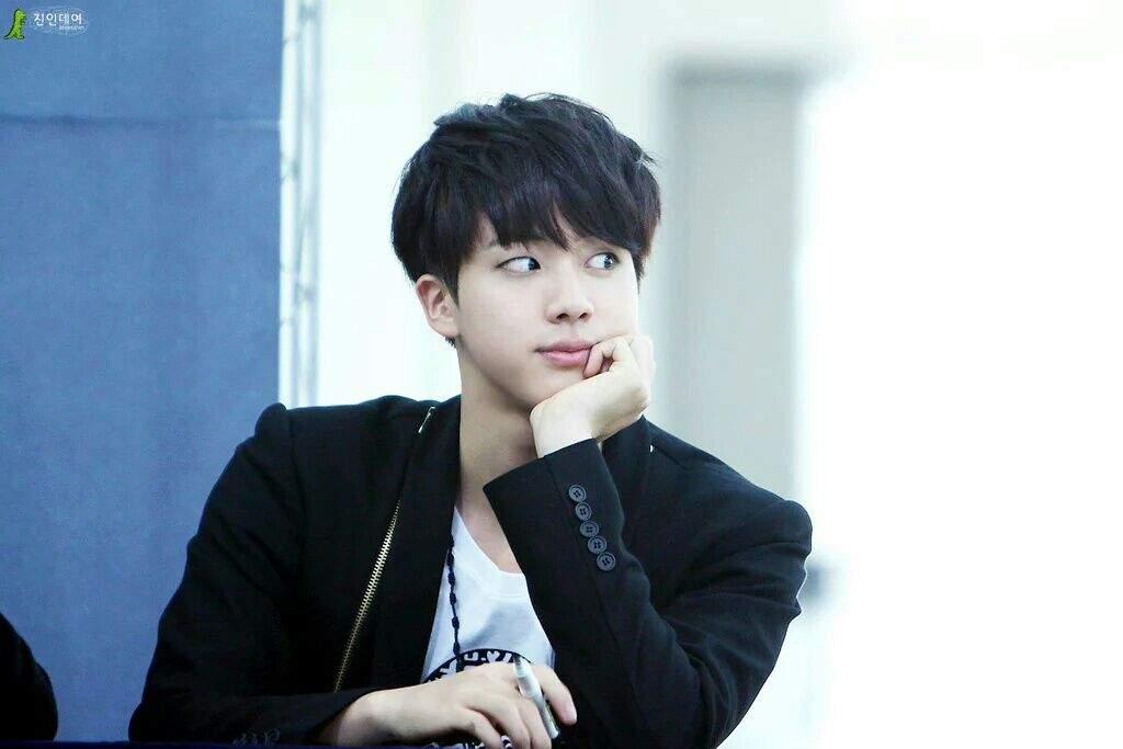 Jin's Black Hair Appreciation Post😃