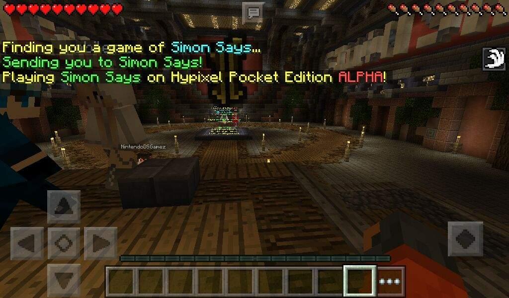 Playing On Hypixel Server Pe Simon Says Minecraft Amino