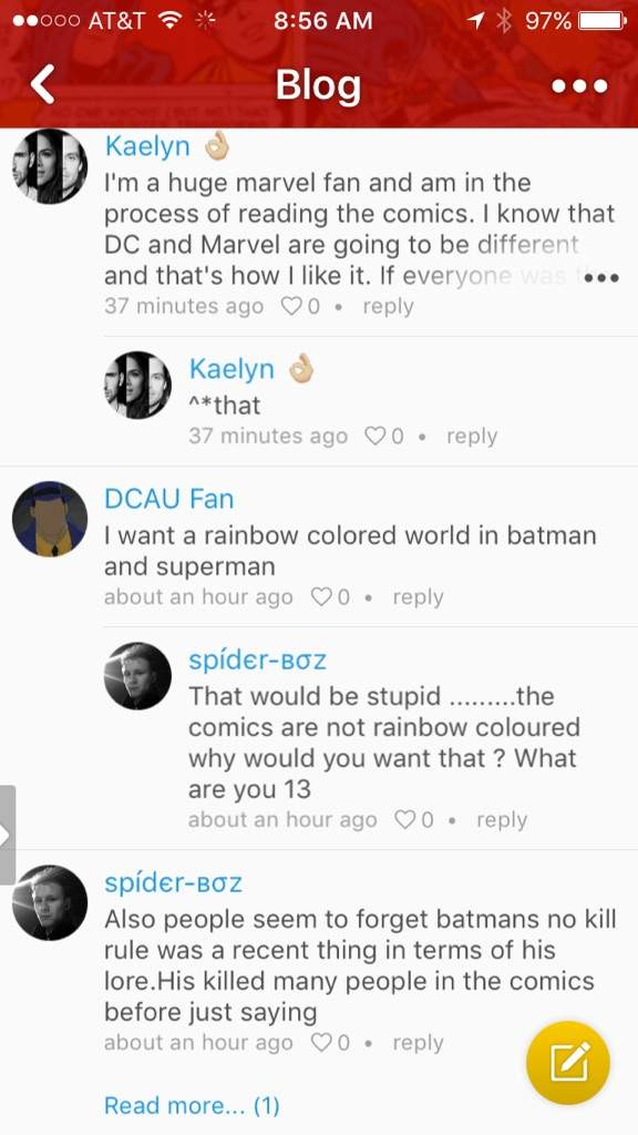 What Is Going On With The Comments Section Comics Amino