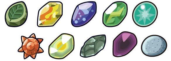 pokemon evolution with stones