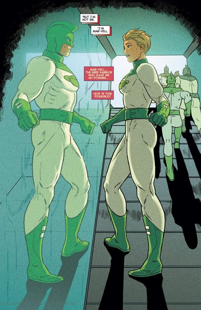 Captain Marvel - Green Uniform (Marvel Comics)