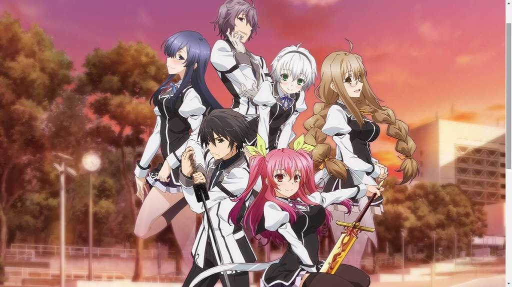 Rakudai Kishi Is In My Top 4 Romance Anime List Because It Has Good Action Scenes And The Story Plot Not Bad At All Genres Harem Ecchi Fantasy