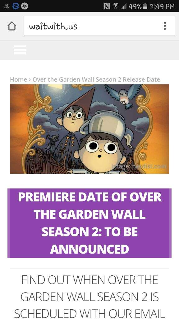 Season 2 Of Over The Garden Wall Cartoon Amino