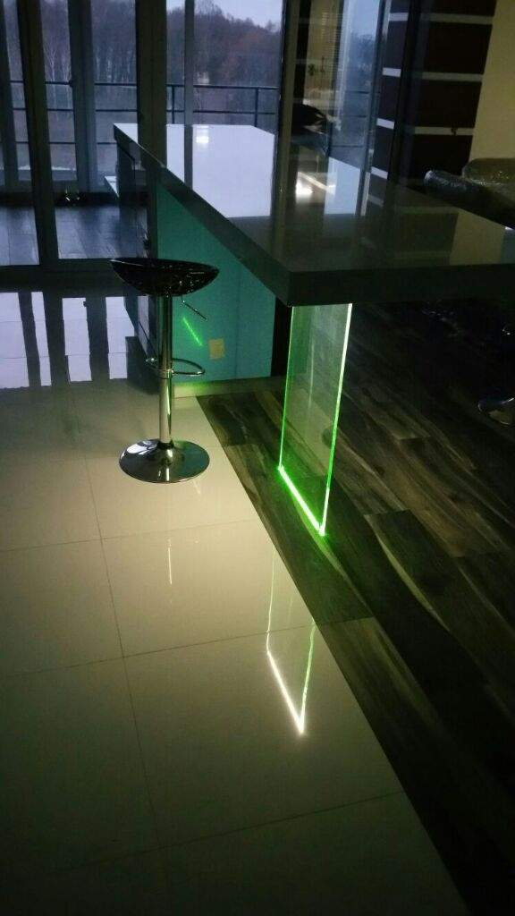 RGB Lights Under Table Thro Glass. And Glass Is Table Support. | Maker Amino