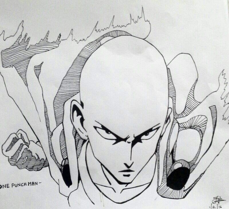 Ruang Belajar Siswa Kelas 6 Anime Drawings One Punch Man