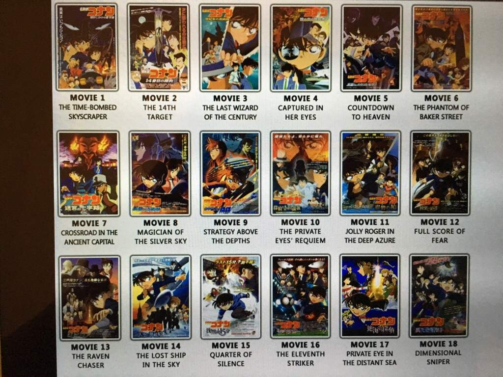 What's Your Favorite Detecive Conan Movie?   Anime Amino