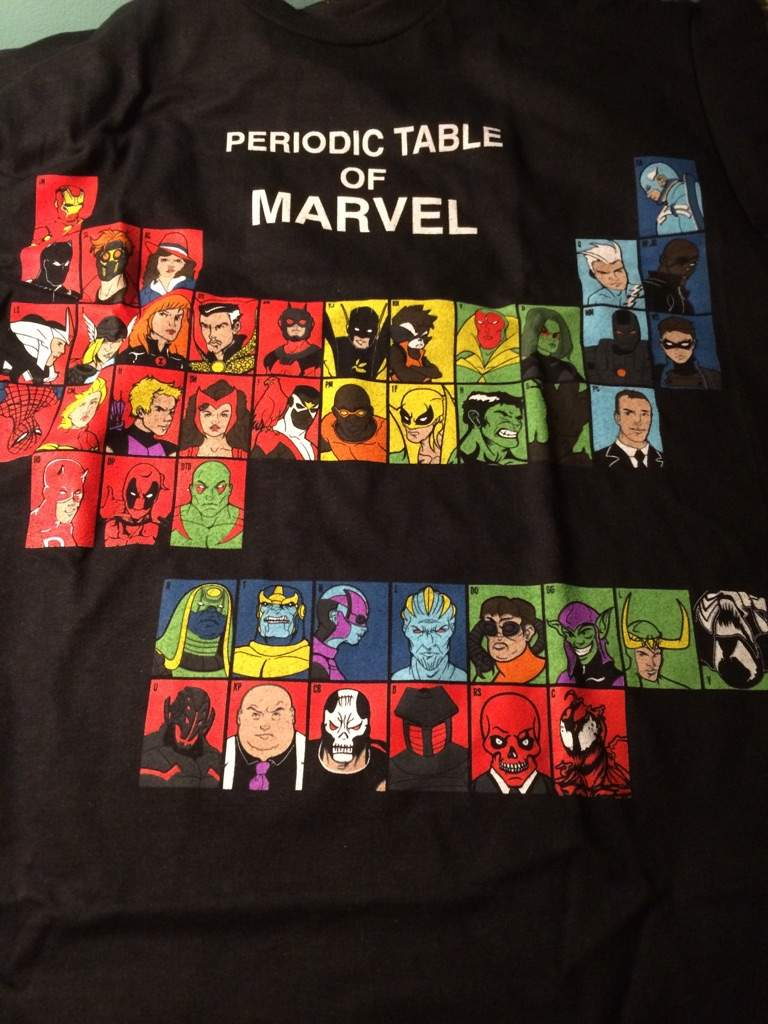 Periodic table of marvel comics amino periodic table of marvel urtaz Image collections