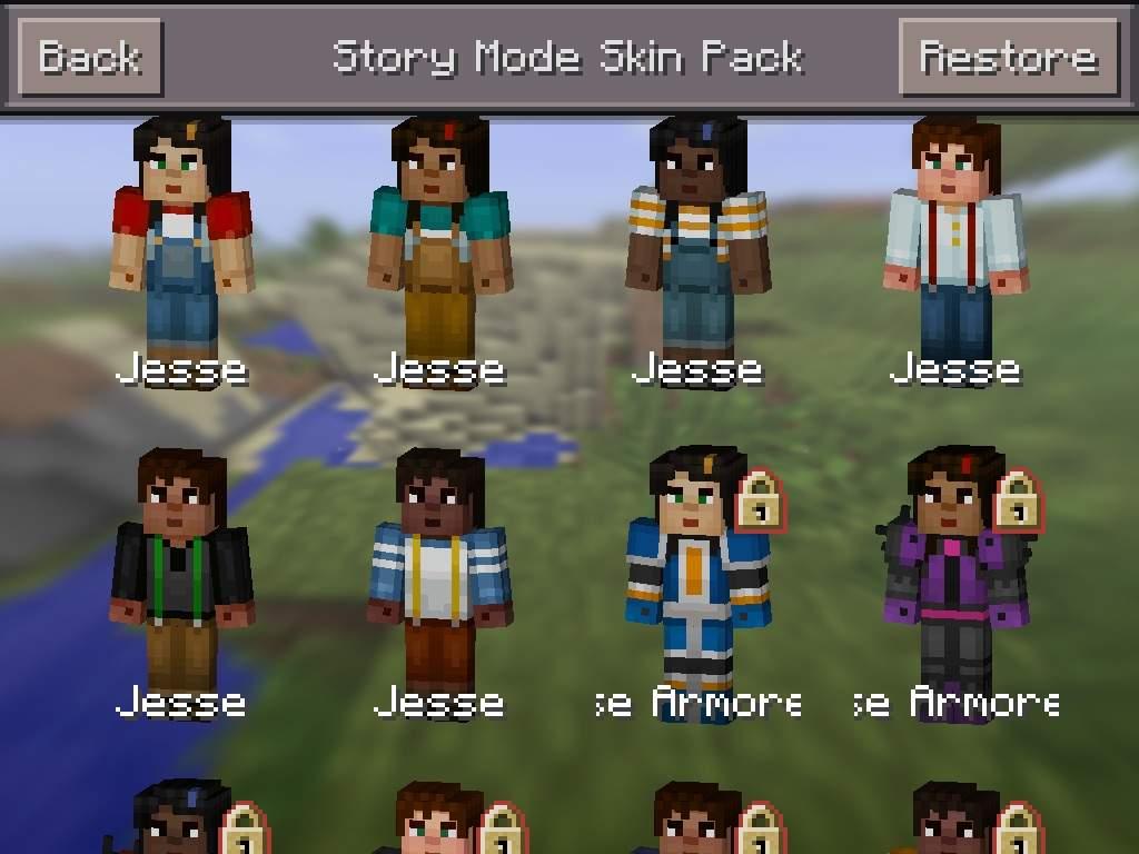 Minecraft Story Mode Skin Pack Minecraft Amino