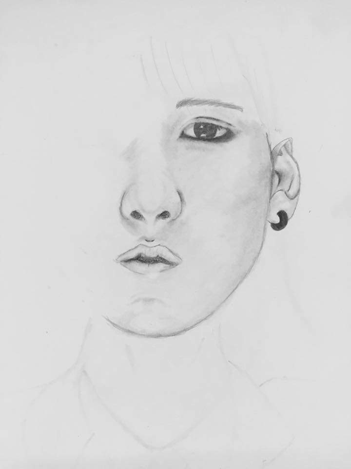 Bts drawing 1 min yoongi k pop amino the face shaping can be difficult especially if the other eye is not present i get really nervous with trying to draw an exact replica of the other eye ccuart Choice Image