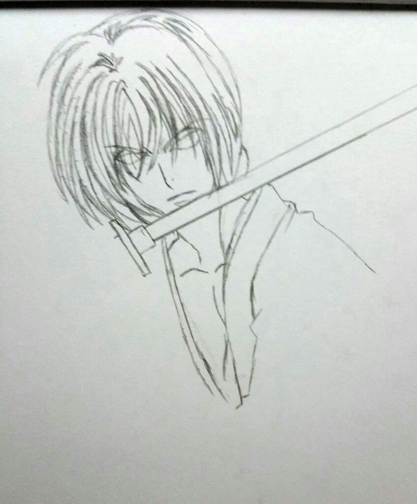 Drawing Rurouni Kenshin Himura Battosai
