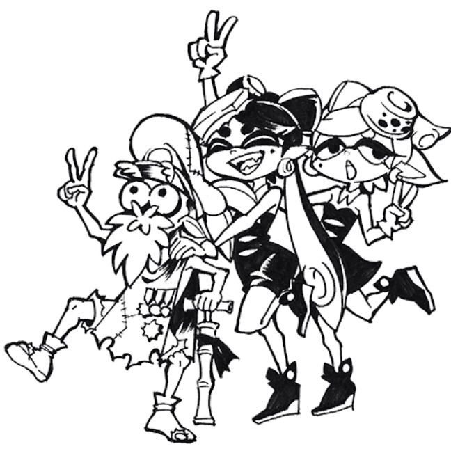 Squid Sisters Coloring Page