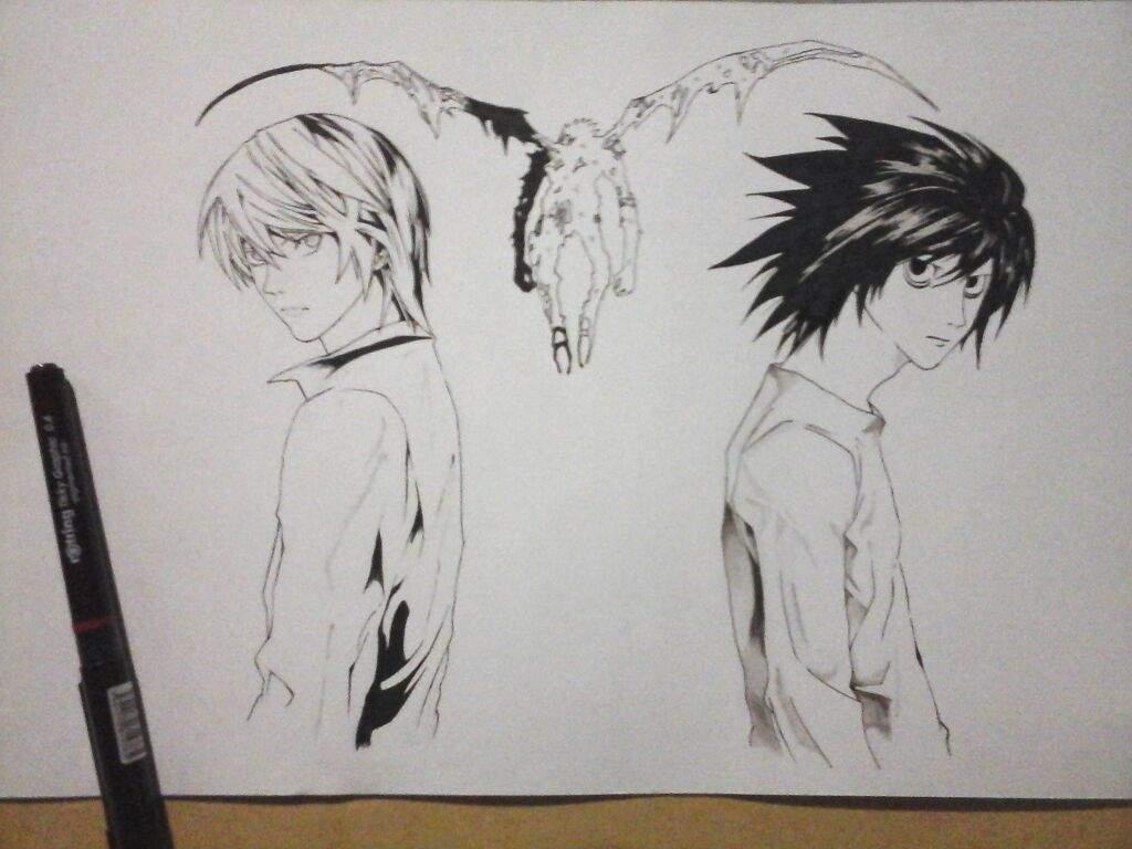 Dibujo de Death Note! (Terminado)   •Anime• Amino