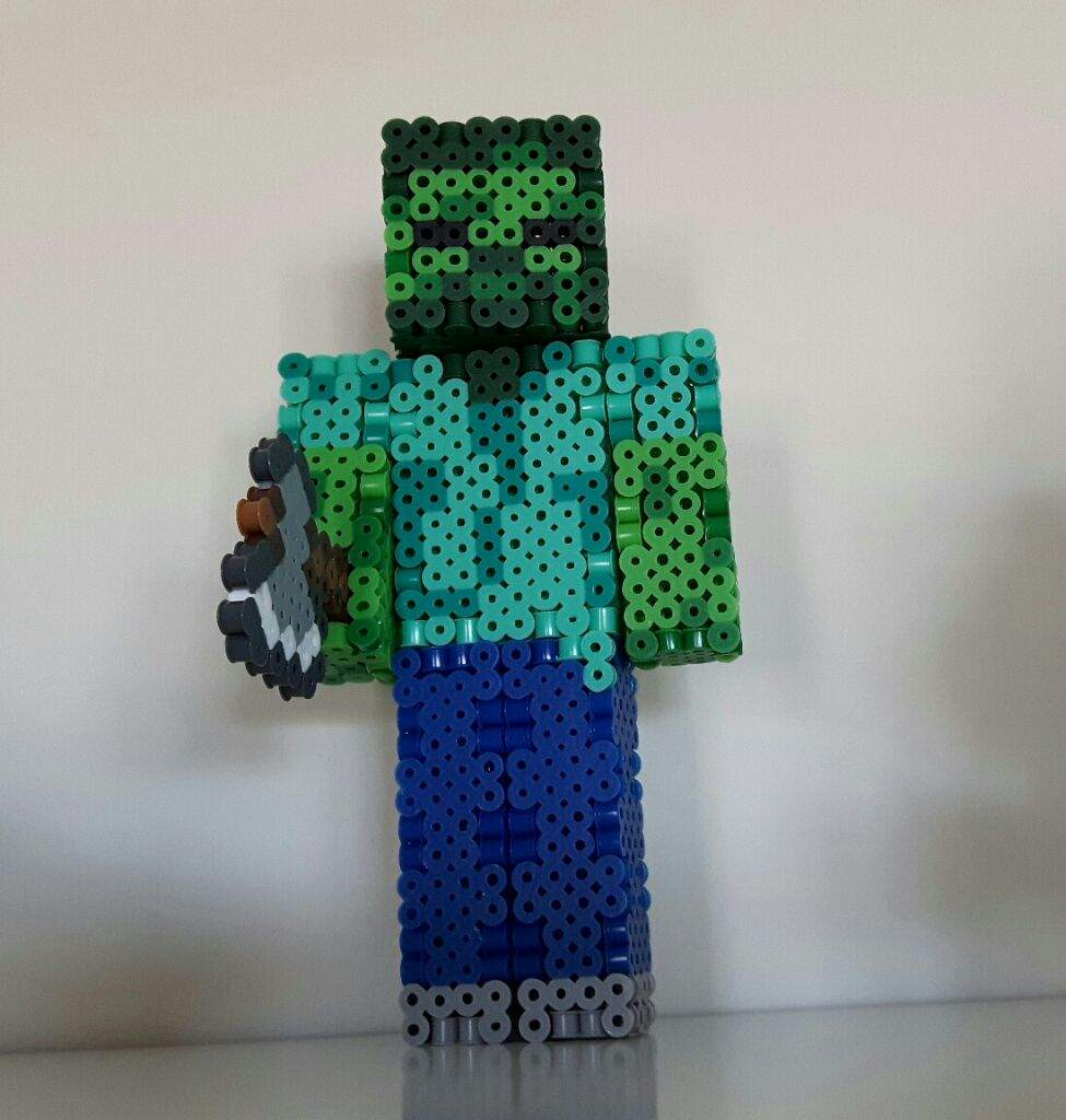 10D Perler Bead Minecraft Zombie Fogure  Crafty Amino