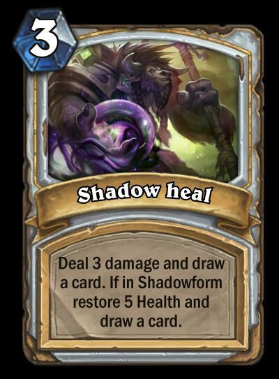 Custom cards for: (Shadowform) Priest. | Hearthstone Amino