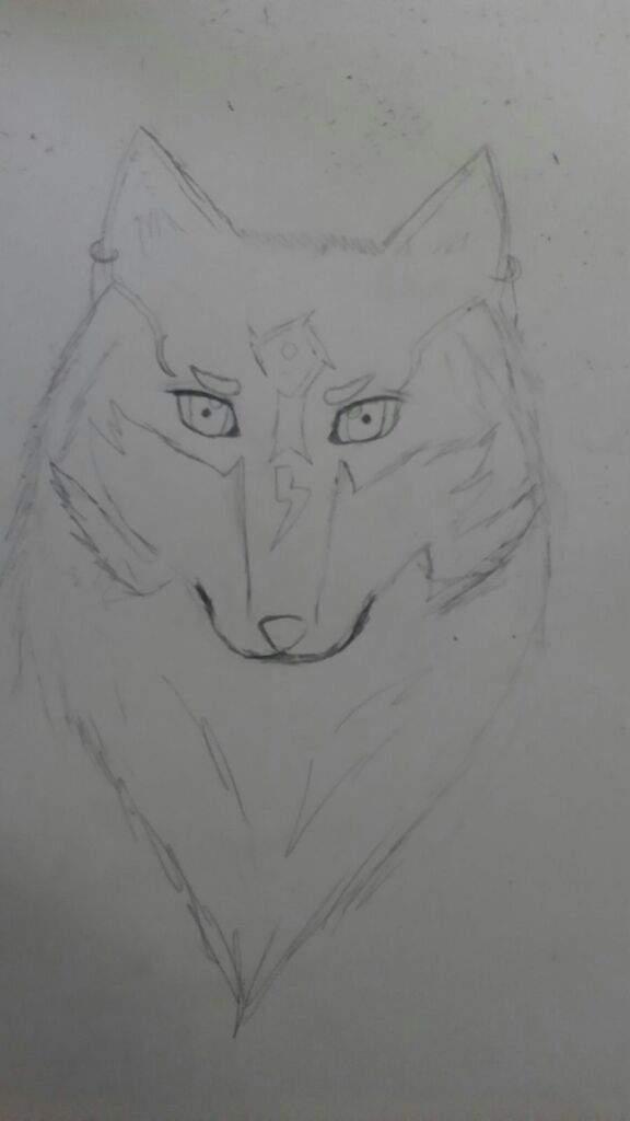 Realistic Wolf Link Charcoal Drawing Fan Art Zelda Amino
