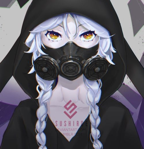 Anime gas mask anime amino - Anime girl with gas mask ...