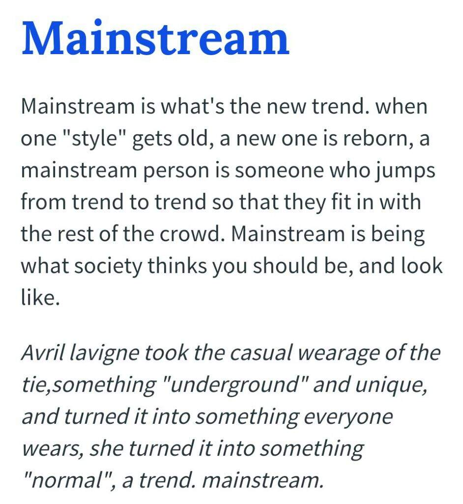 What is mainstream 57