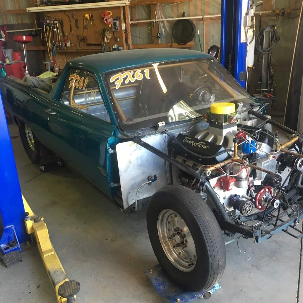 Ford Ranchero Drag Car Garage Amino