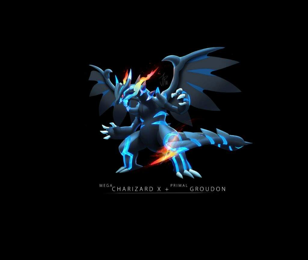 charizard x fused with primal groudon pok233mon amino