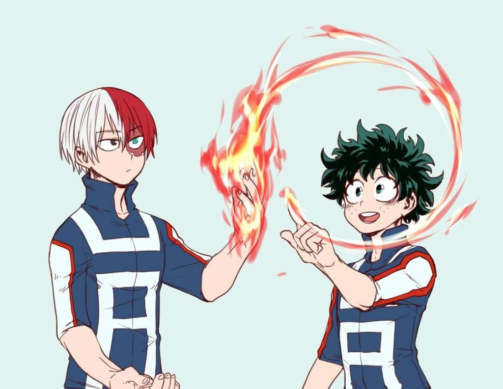Anime Character Quirks : Tododeku shouto izuku wiki anime amino