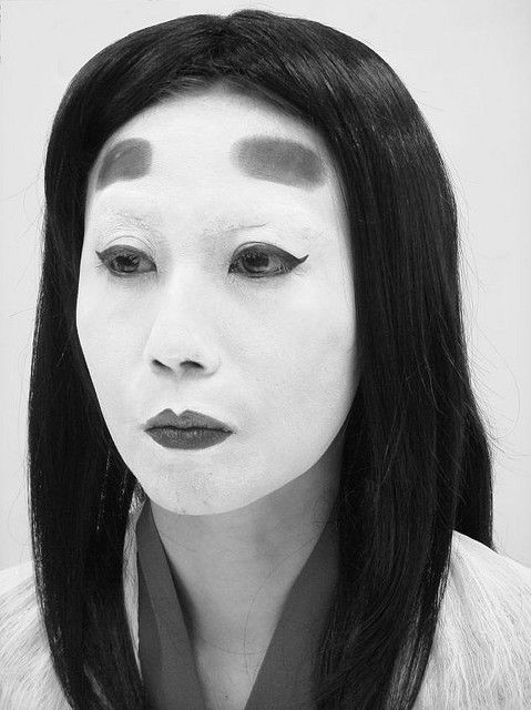 Japanese shaved eyebrows
