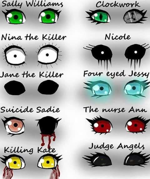 Creepypasta Characters Eyes Horror Amino